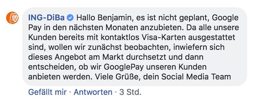 Ing Diba Google Pay