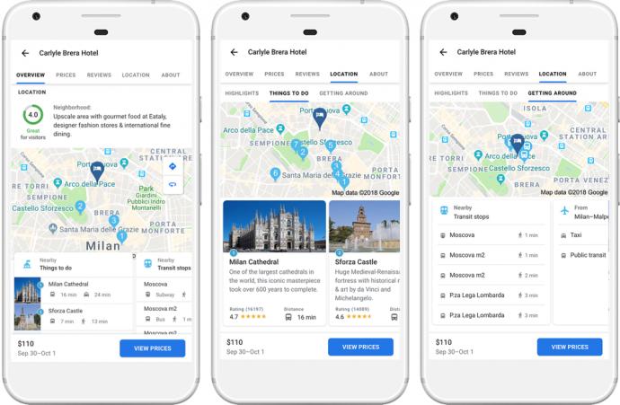 Google Hotel Standortbewertung