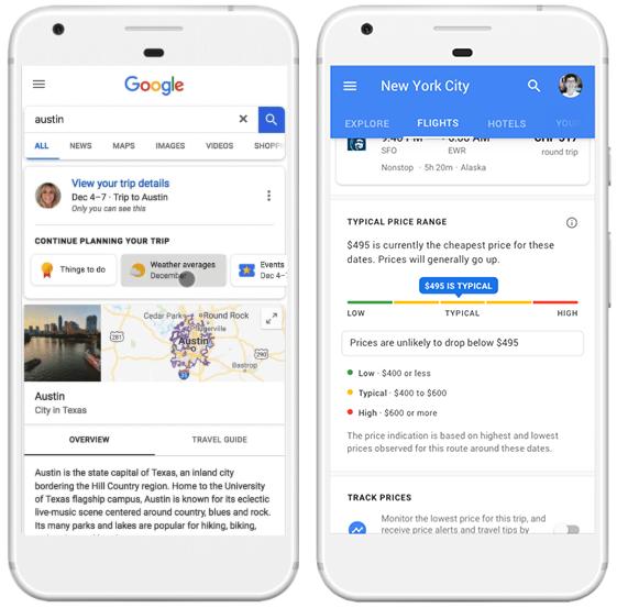 Google Reiseplanung