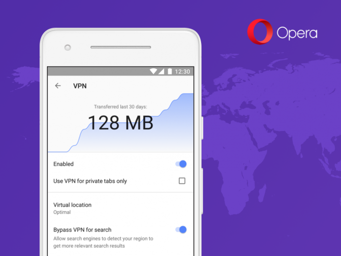 Opera Browser mit VPN-Funktion